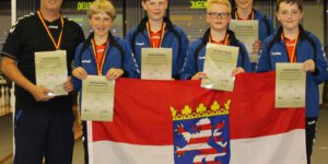 DJM 2017 in Oberthal: U14-Mannschafts-Silber mit KV Lahntal