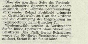 """""""Gut Holz"""" Launsbach blickt auf gute Saison"""