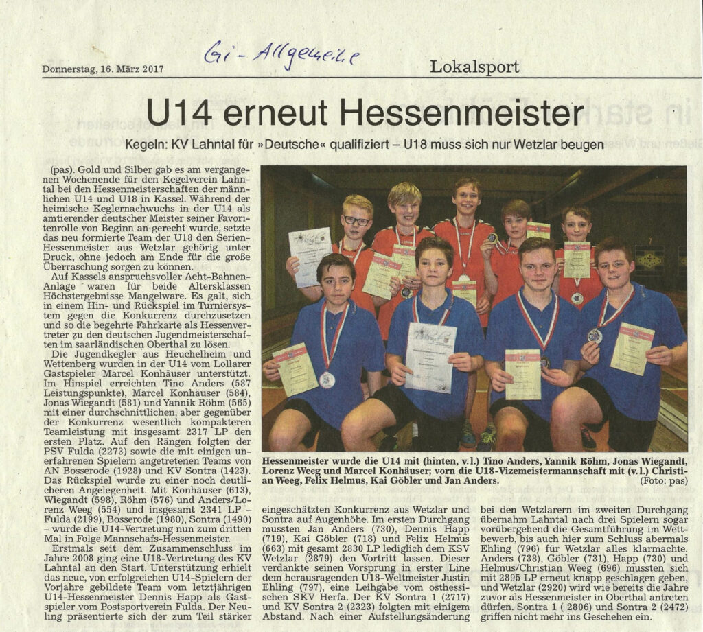 U14 erneut Hessenmeister