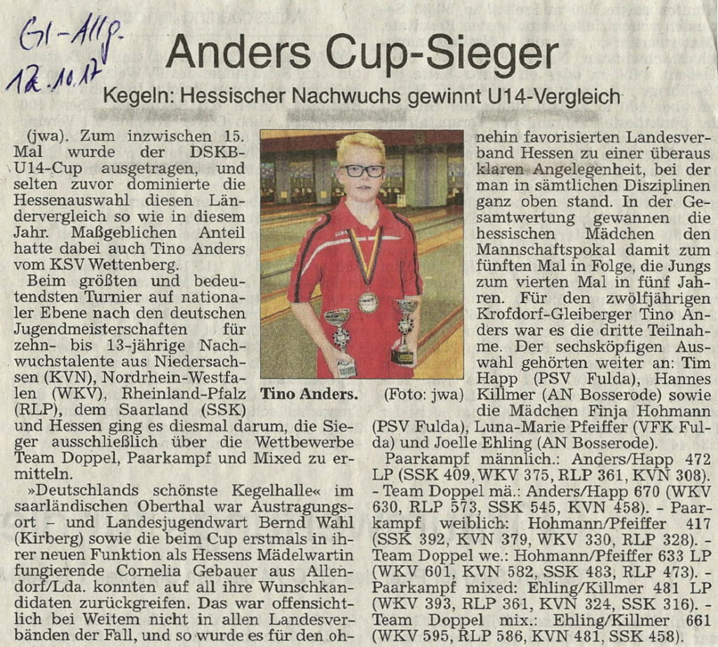 Anders Cup-Sieger
