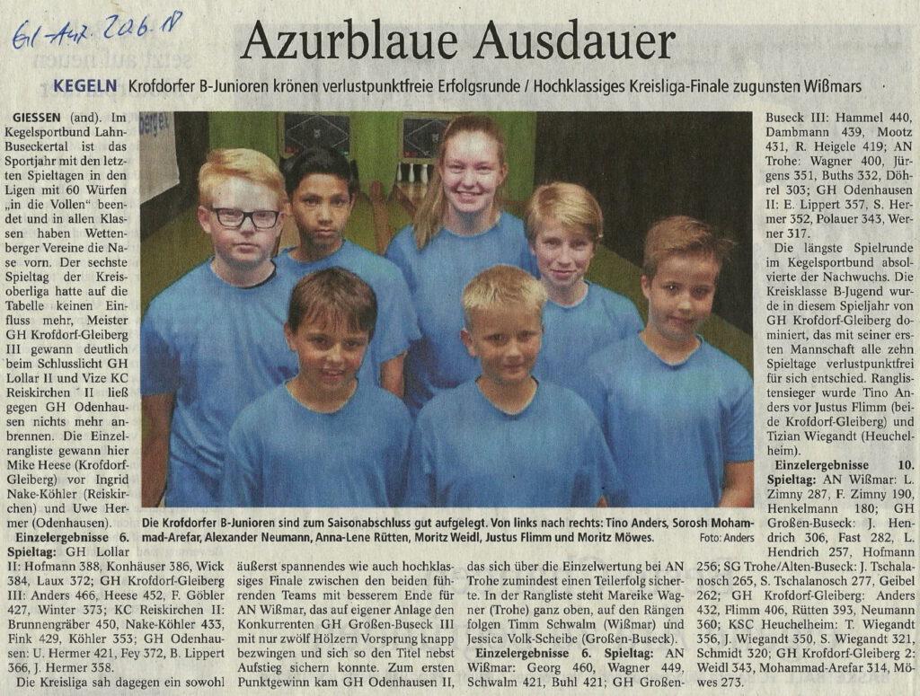 Azurblaue Ausdauer