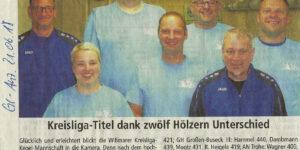 Kreisliga-Titel dank zwölf Hölzern Unterschied