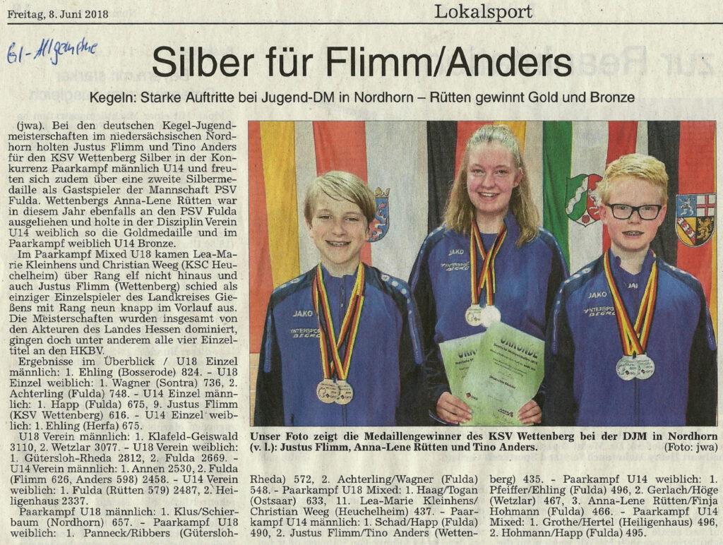 Silber für Flimm/Anders